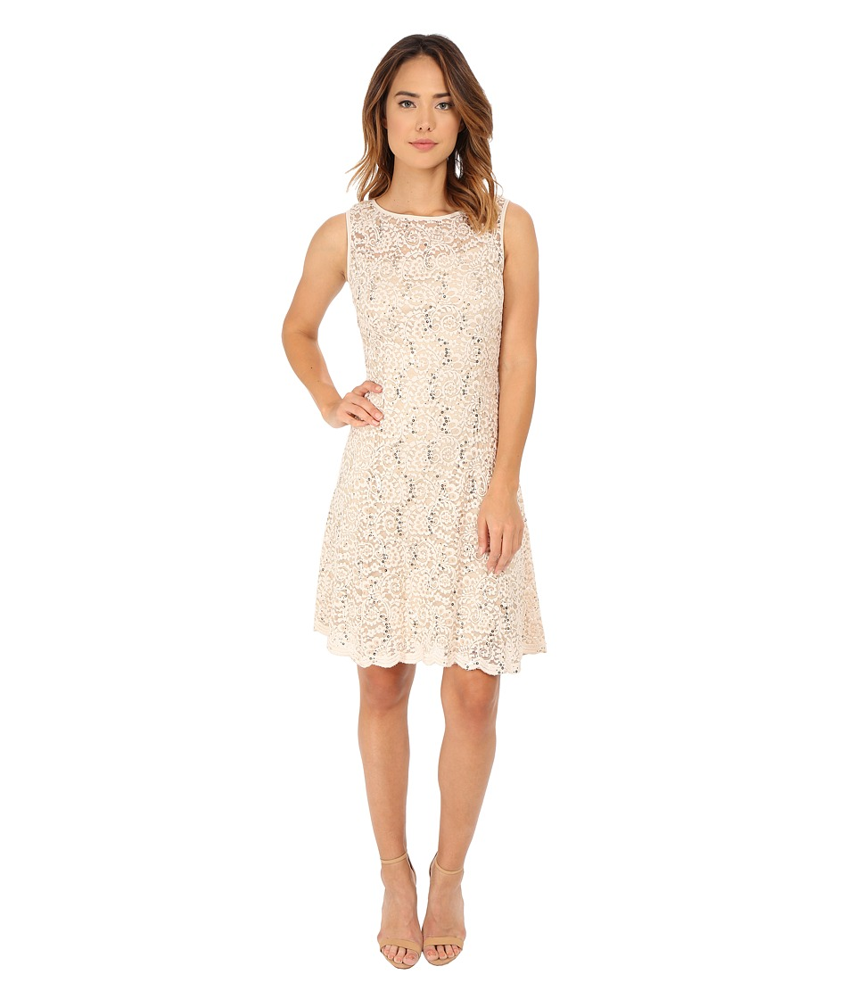 rsvp Nora Fit and Flare Dress (Champagne) Women