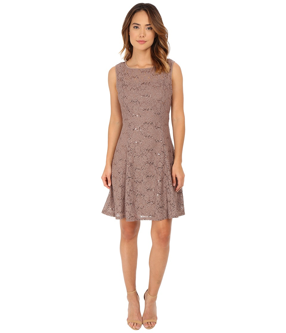 rsvp - Evelyn Lace Dress (Taupe) Women's Dress