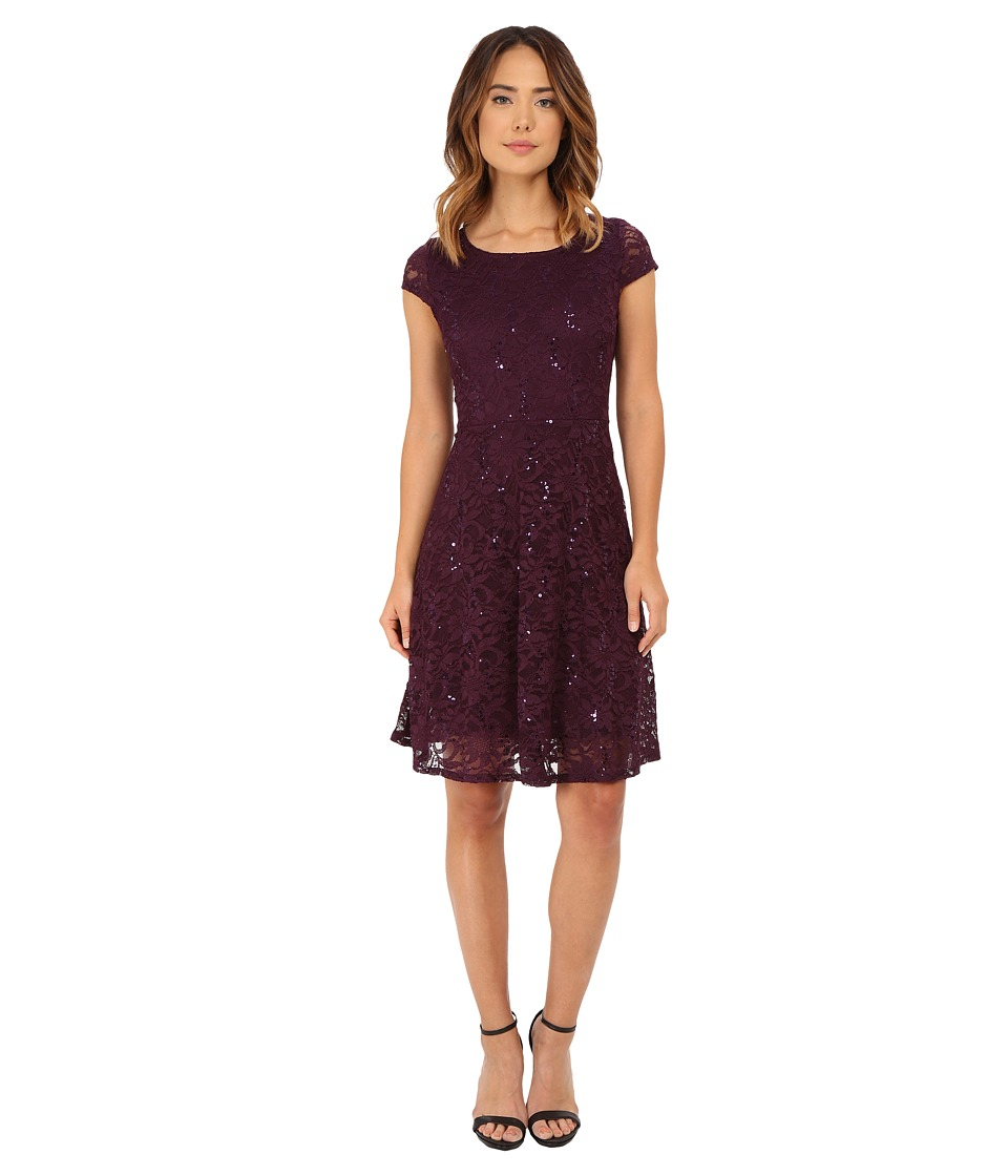 rsvp - Sofia Dress (Eggplant) Women's Dress