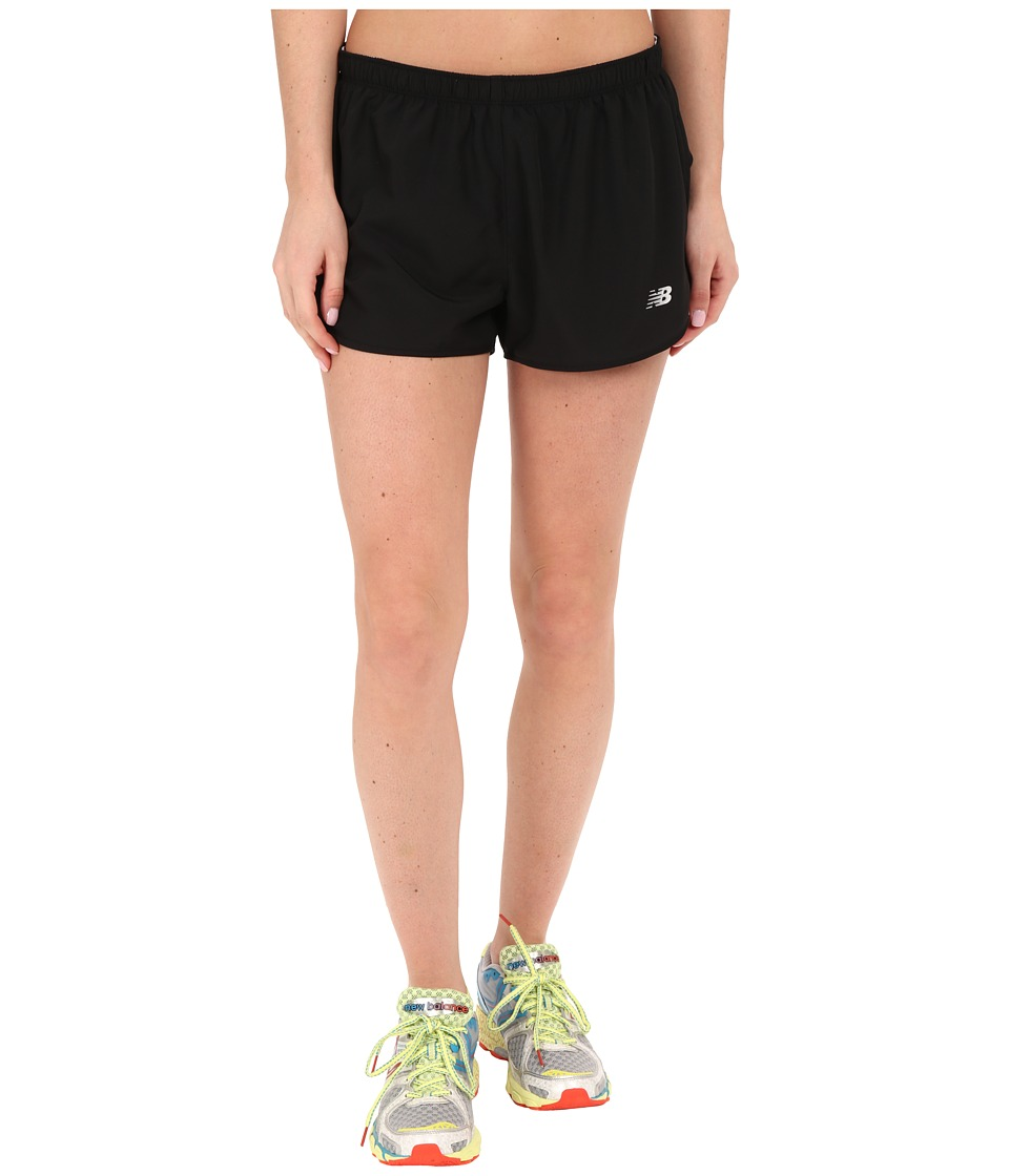 New Balance - Sequence Woven Shorts (Black) Women's Shorts