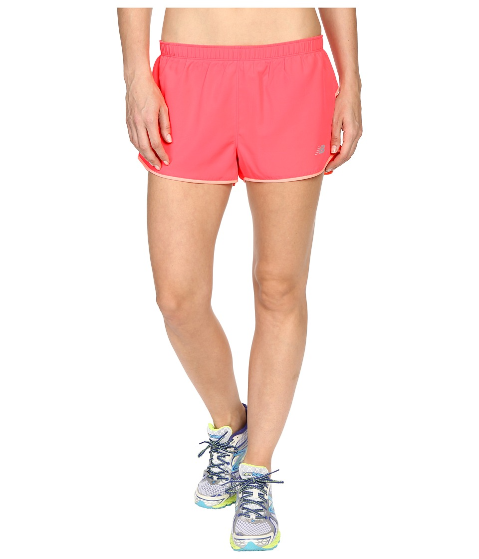 New Balance - Sequence Woven Shorts (Pink Zing) Women's Shorts