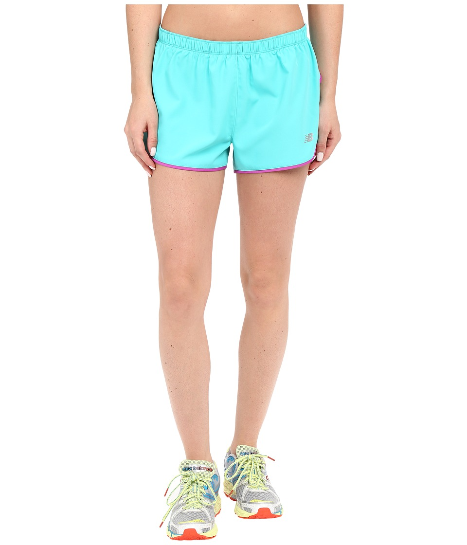 New Balance - Sequence Woven Shorts (Tidepool) Women's Shorts
