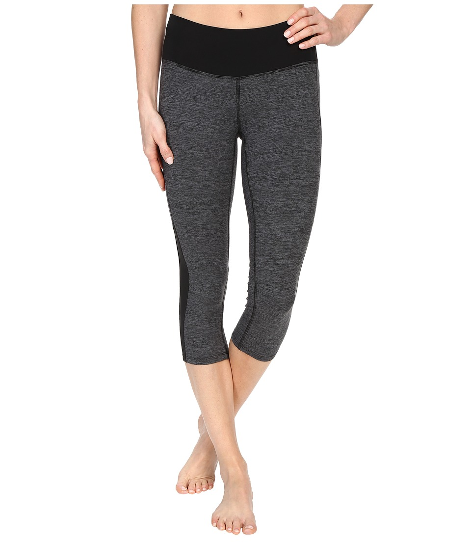 New Balance - Melange Crush Capris (Black Grey) Women's Capri