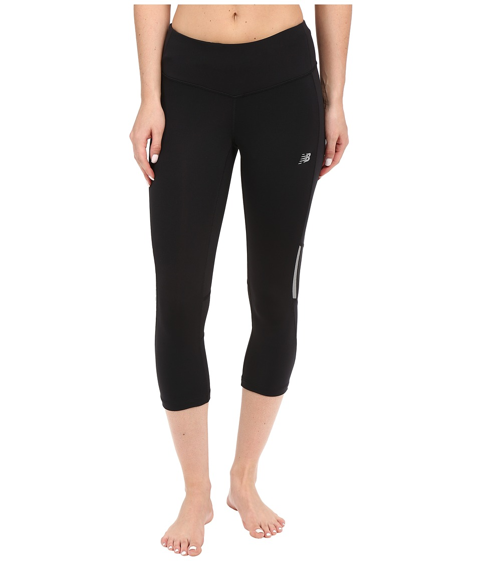 New Balance - Run Capris (Black) Women's Capri