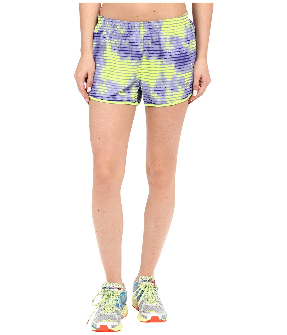 New Balance - Printed Woven Run Shorts (Lazarite Print) Women's Shorts