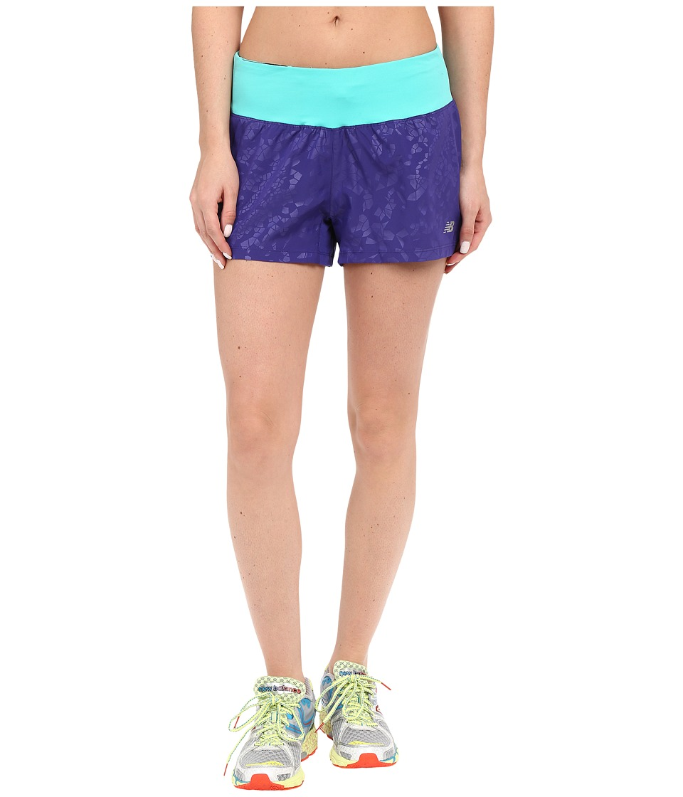 New Balance - 3 Run Shorts (Lazarite) Women's Shorts