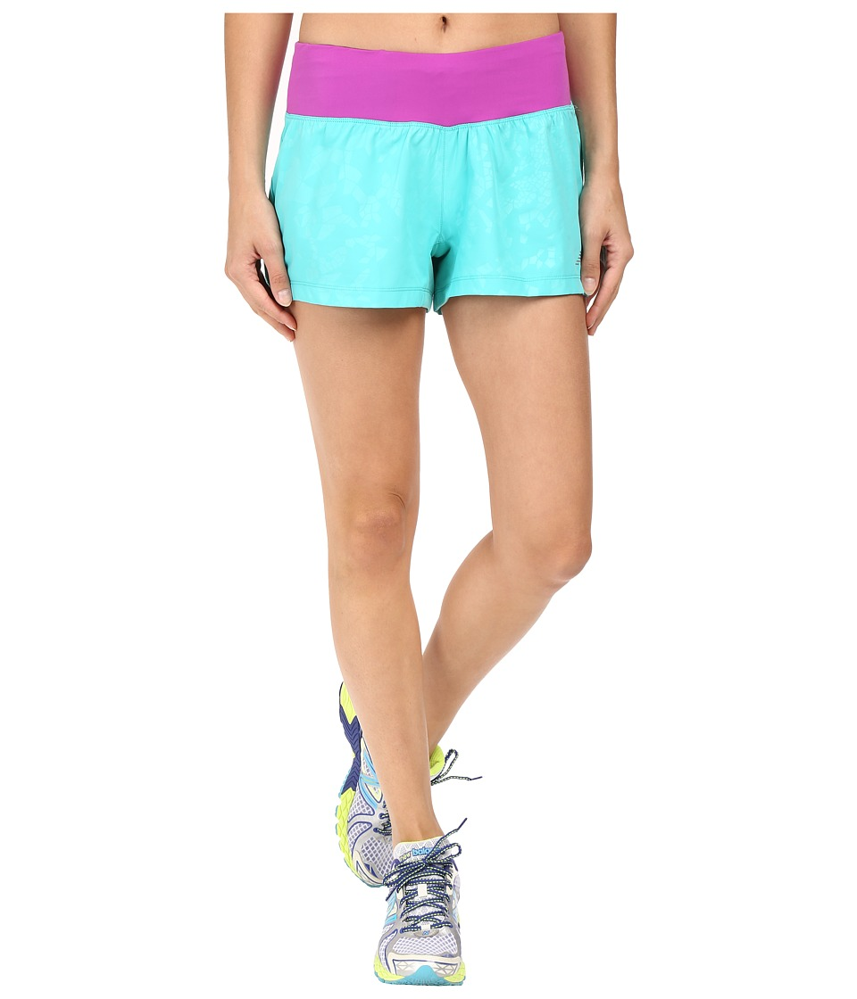 New Balance - 3 Run Shorts (Tidepool) Women's Shorts
