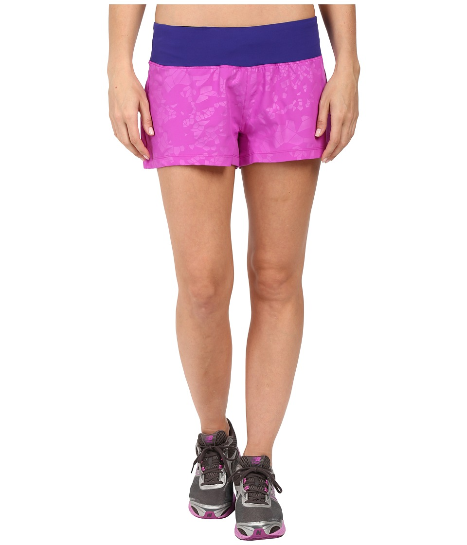 New Balance - 3 Run Shorts (Voltage Violet) Women's Shorts