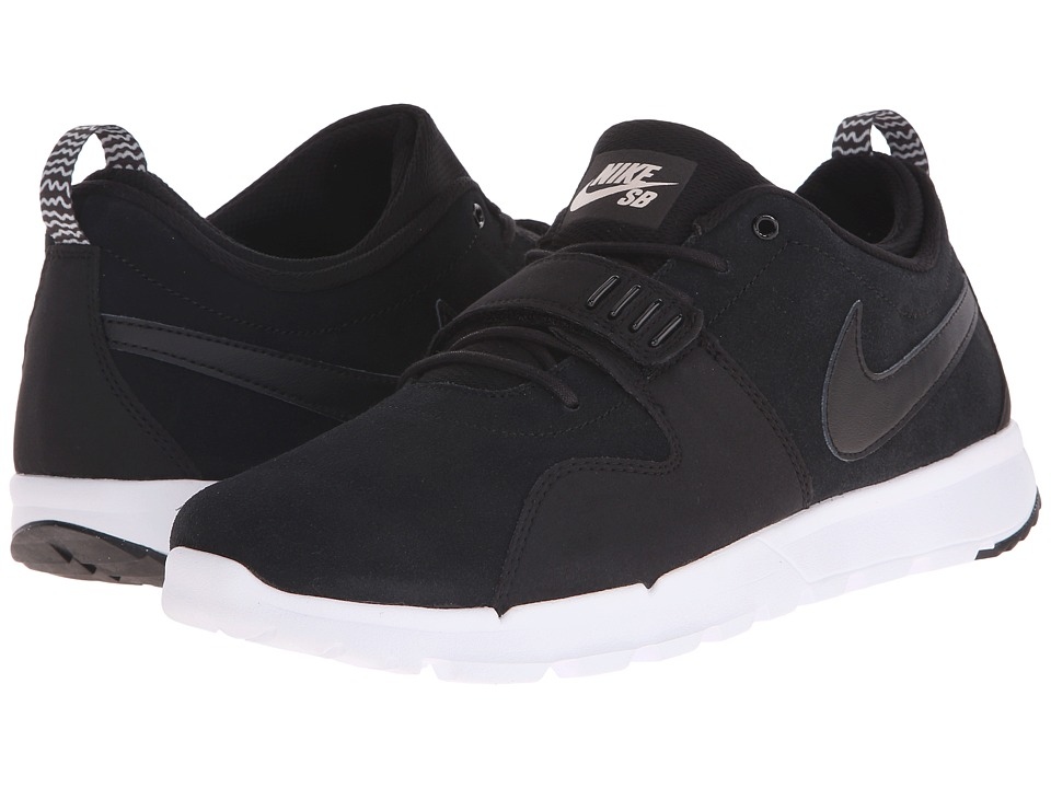 Nike SB - Trainerendor Leather (Black/White/Black) Men's Skate Shoes