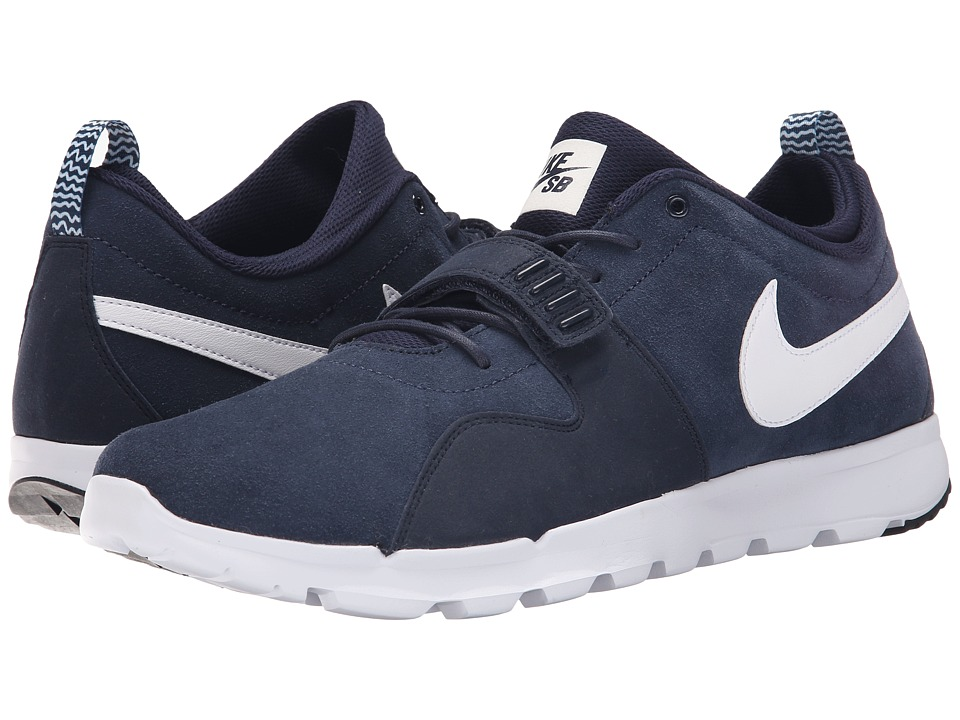 Nike SB - Trainerendor Leather (Obsidian/White) Men's Skate Shoes