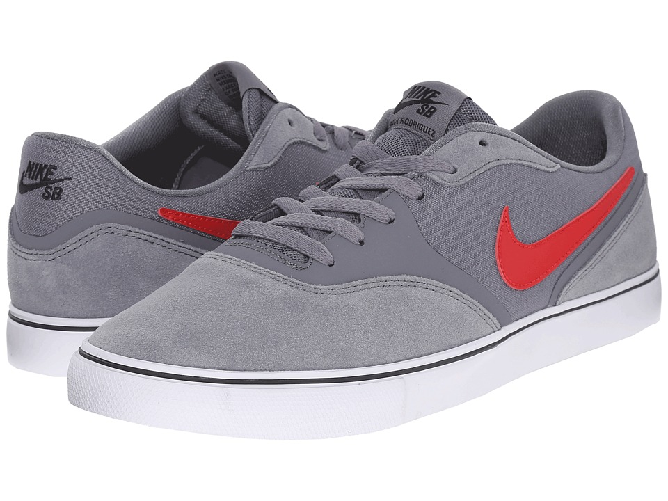 Nike SB - Paul Rodriguez 9 VR (Cool Grey/Summit White/University Red/Dark Obsidian) Men's Skate Shoes