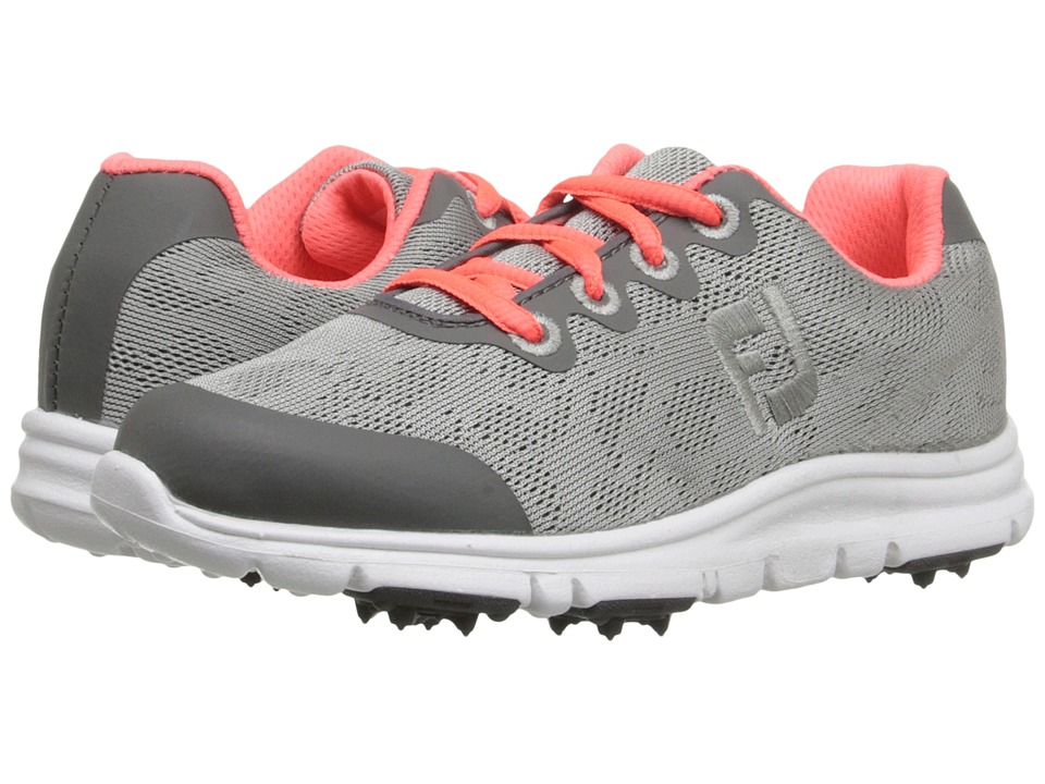 FootJoy - Empower (Little Kid/Big Kid) (Silver/Pink) Women's Golf Shoes