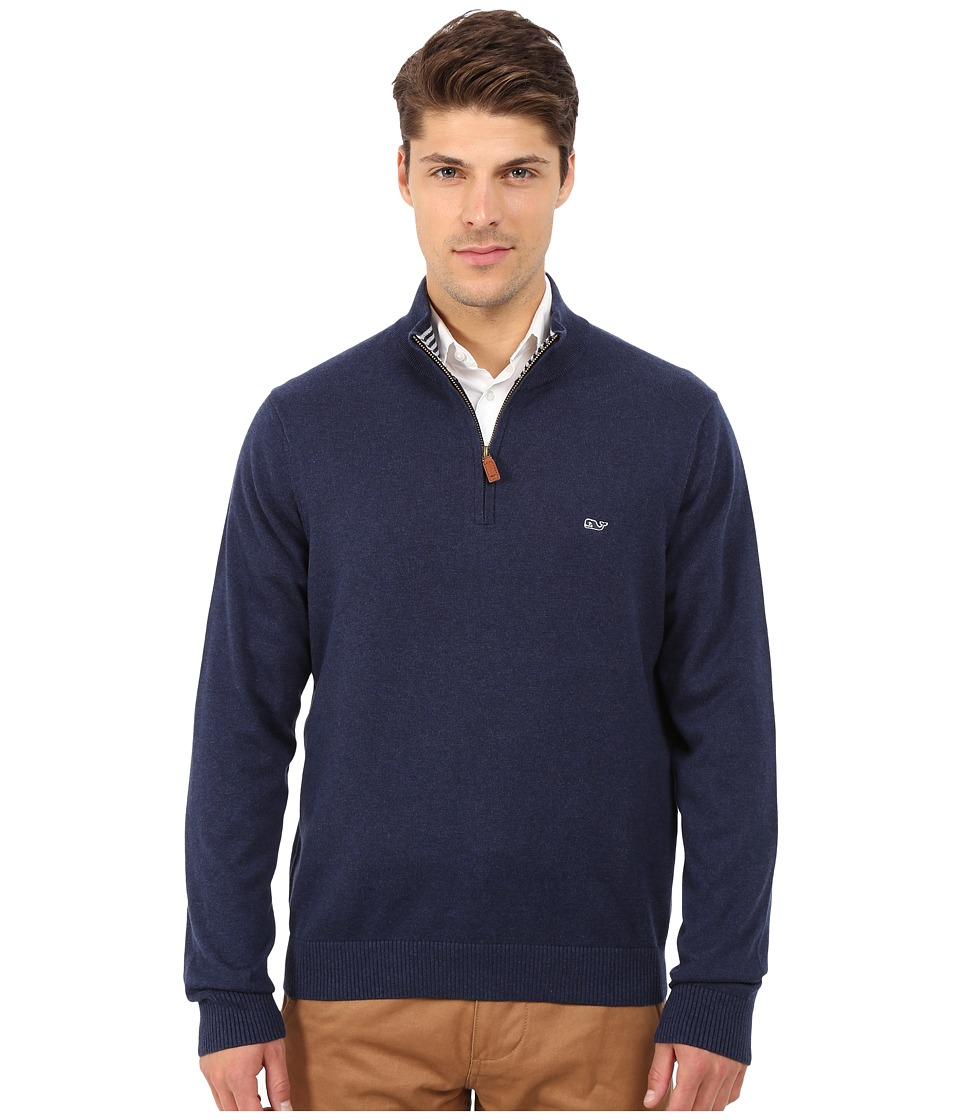 Vineyard Vines - Cotton 1/4 Zip Shirt (Nautical Navy) Men