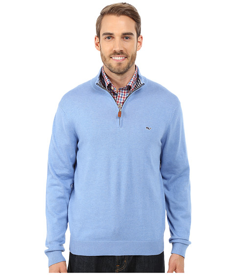 Vineyard Vines - Cotton 1/4 Zip Shirt (Hydrangea) Men