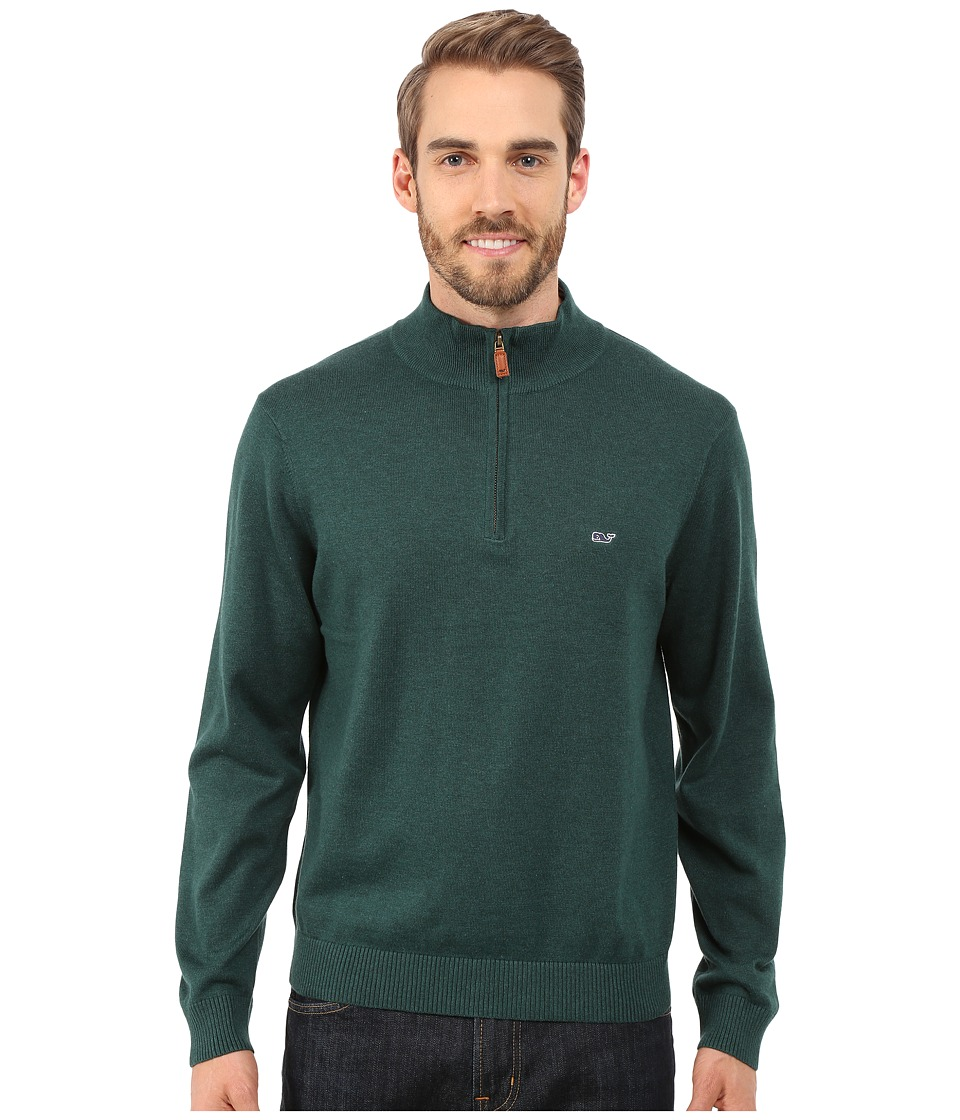 Vineyard Vines - Cotton 1/4 Zip Shirt (Charleston Green) Men's Sweater