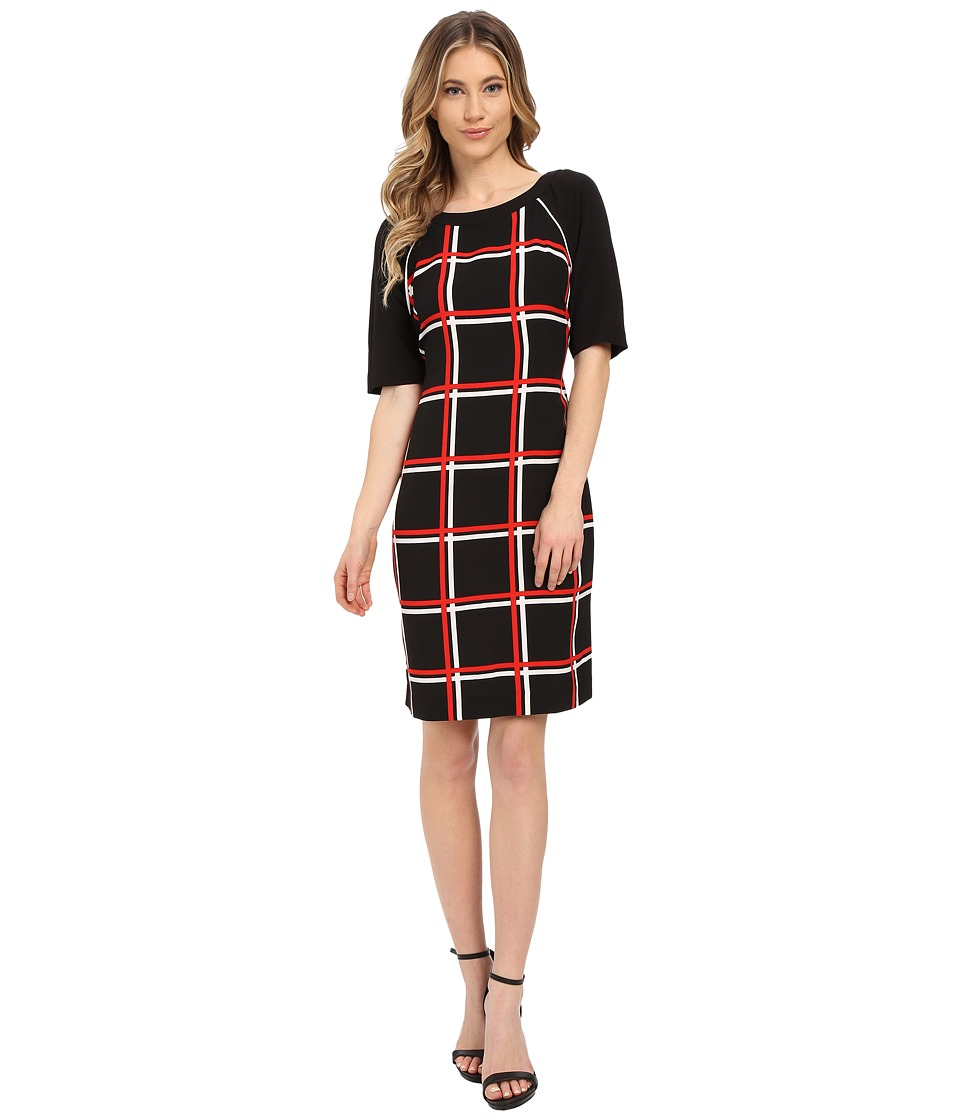 Christin Michaels - Chloe Dress (Black/Red/Ivory) Women's Dress