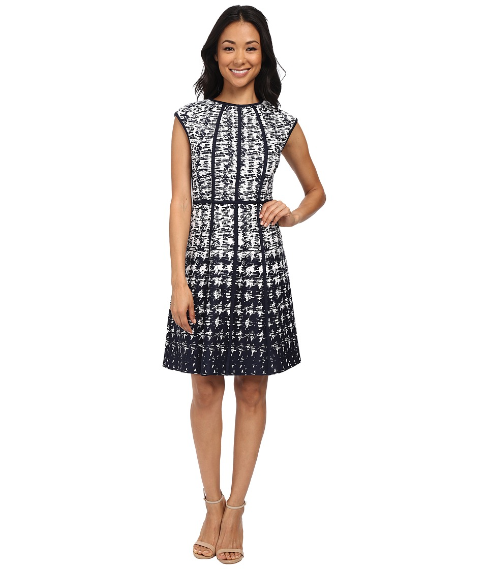 Christin Michaels - Riley Dress (Navy/Ivory) Women's Dress