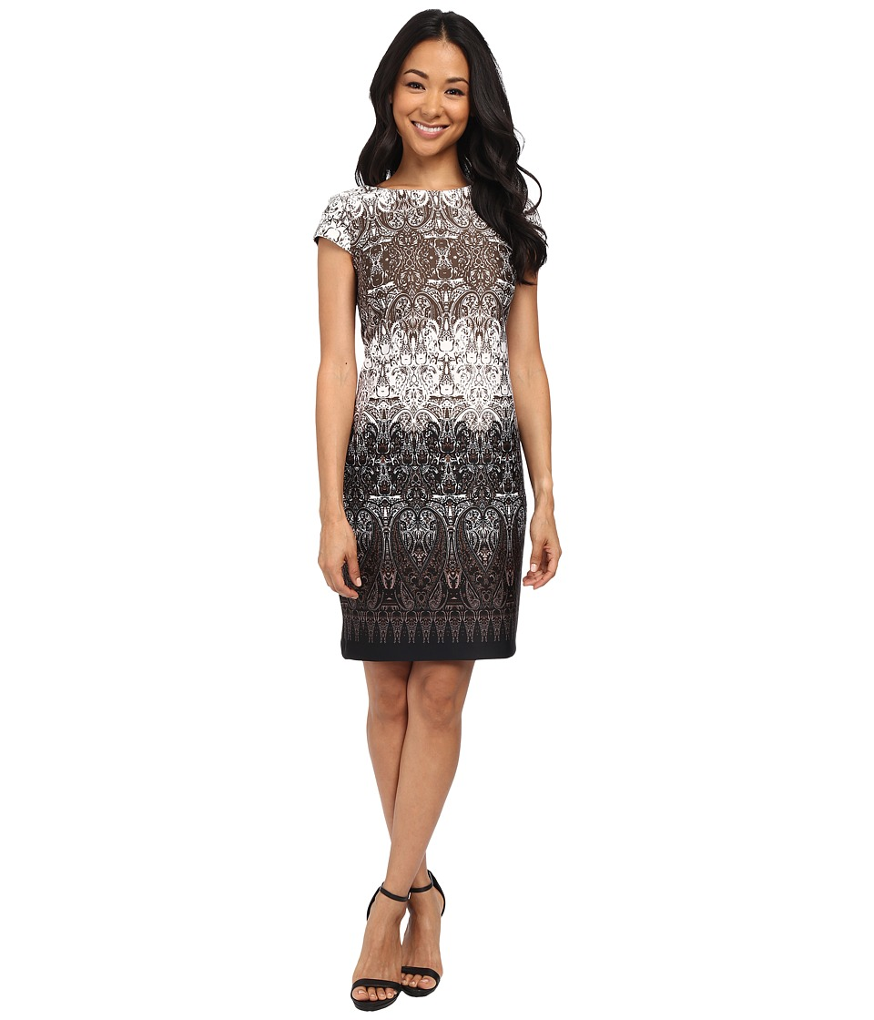 Christin Michaels - Brooklyn Dress (Wine/Ivory/Black) Women's Dress
