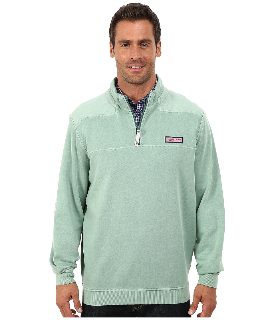 Vineyard Vines - Garment Dyed Whale Line Shep Shirt (Starboard Green) Men's Long Sleeve Pullover