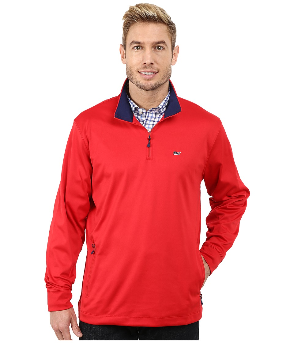 Vineyard Vines - Performance Jersey 1/4 Zip Shirt (Lighthouse Red) Men's Clothing