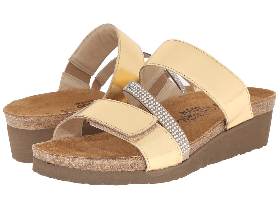 Naot Footwear - Sheryl (Gold Leather/Beige/Clear Rhinestones) Women's Sandals