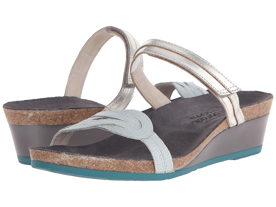 Naot Folklore (Silver Luster Leather/Sea Pearl Leather) Women