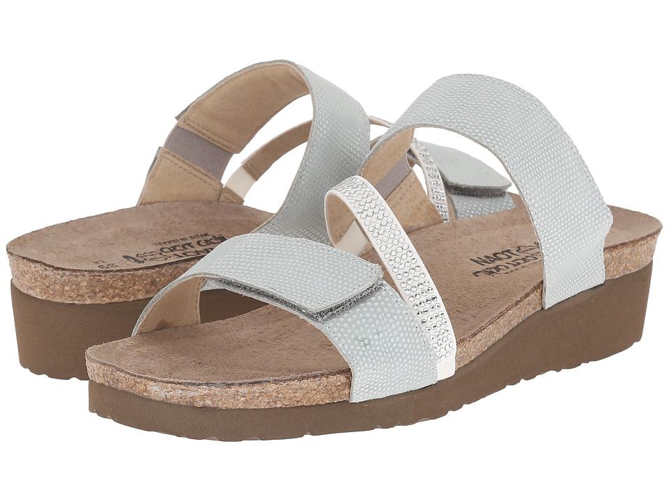 Naot Footwear - Sheryl (Sea Pearl Leather/White/Clear Rhinestones) Women's Sandals