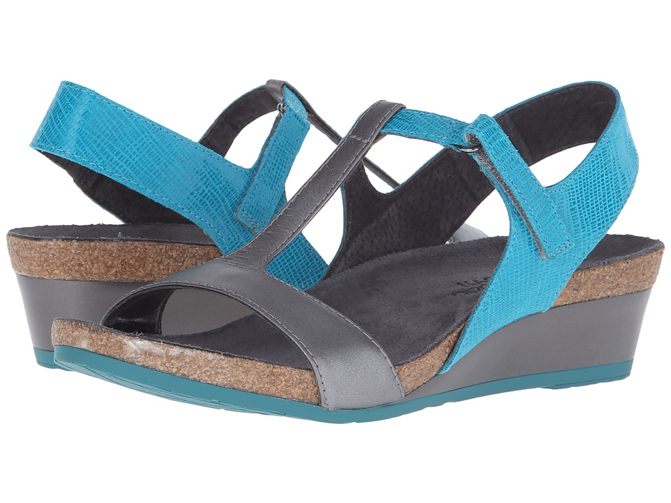 Naot Footwear - Unicorn (Aquamarine Leather/Mirror Leather) Women's Sandals