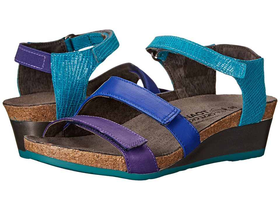 Naot Footwear - Goddess (Purple Leather/Royal Blue Leather/Aquamarine Leather) Women's Sandals