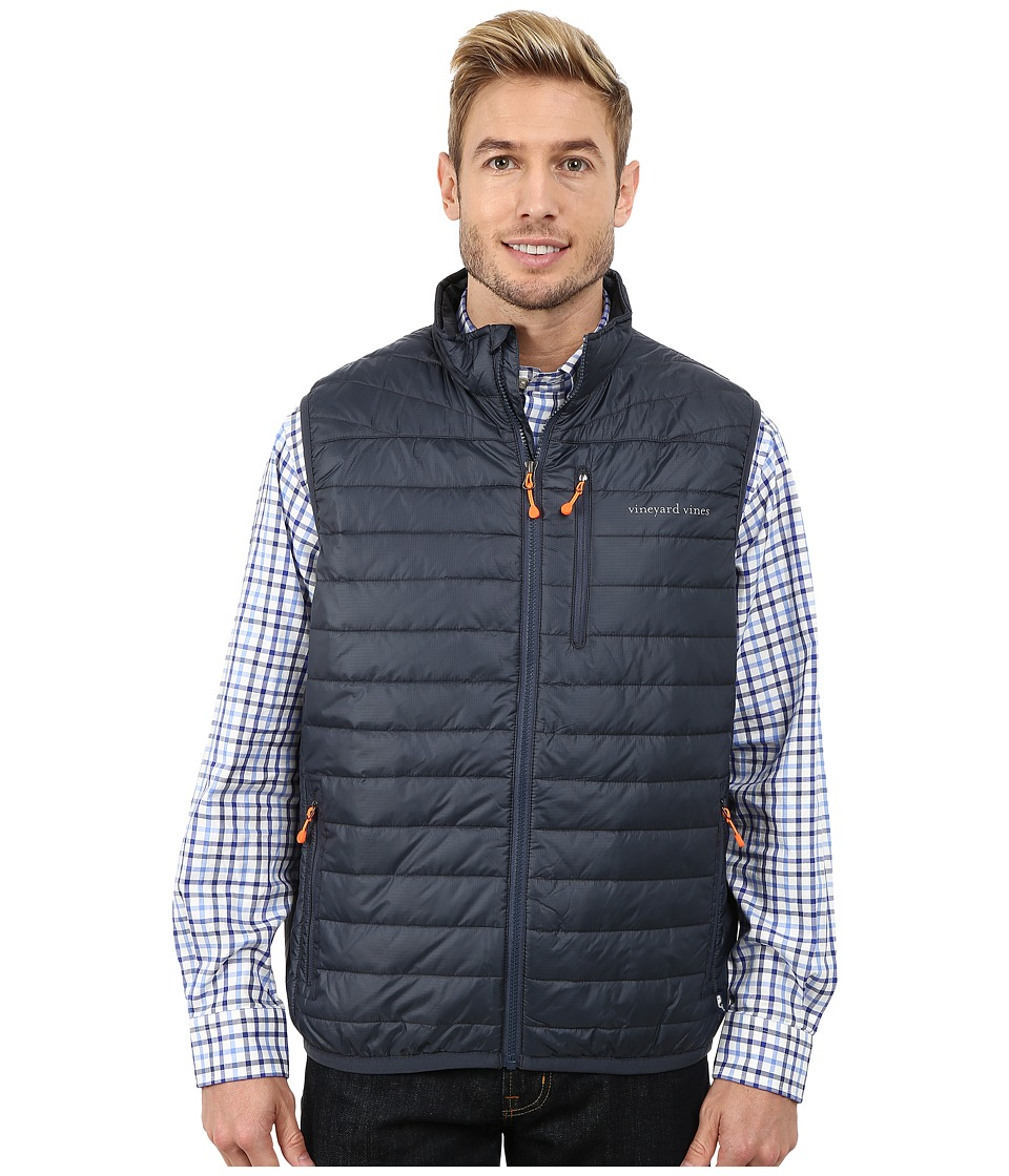 Vineyard Vines - Mountain Weekend Vest (Seal Blue) Men's Vest