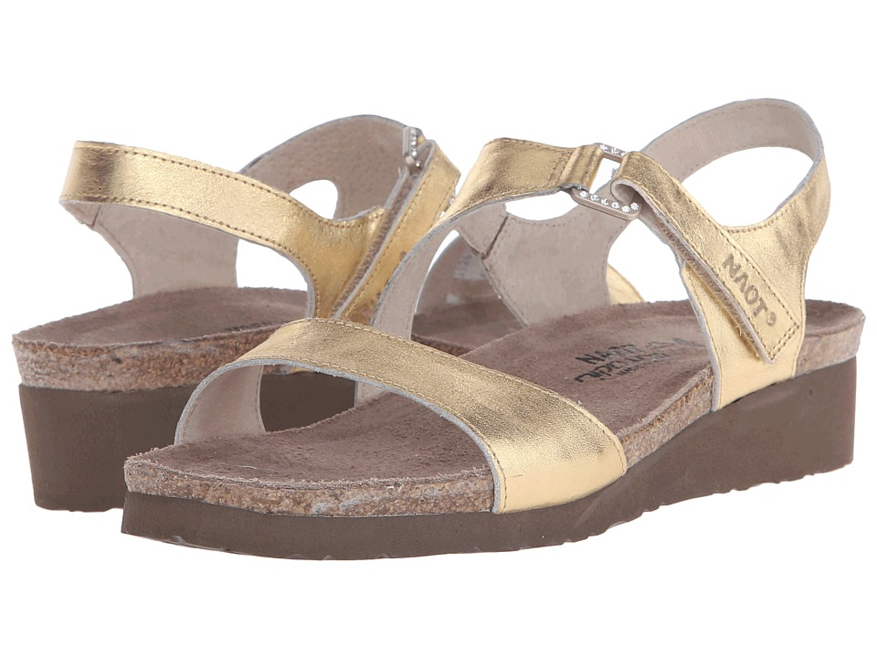 Naot Footwear - Pamela (Gold Leather) Women's Sandals