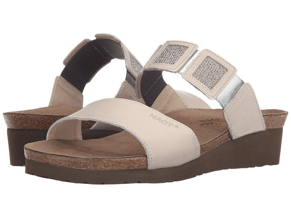 Naot Footwear - Emma (Dusty Silver Leather/Beige/Silver Rivets/Dusty Silver Leather) Women's Sandals