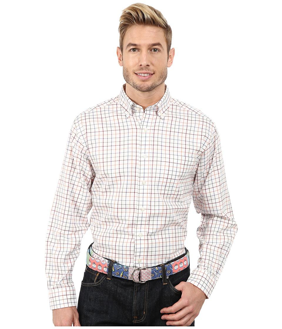 Vineyard Vines - Duck Wallow Check Murray Shirt (Marshmallow) Men's Clothing