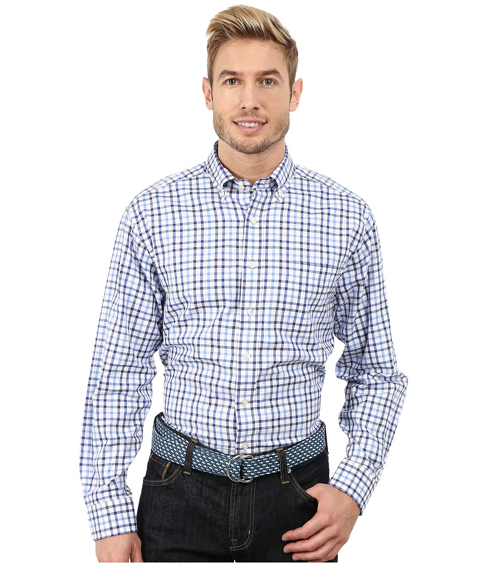 Vineyard Vines - Pikes Bluff Check Murray Shirt (Baltic Blue) Men's Long Sleeve Button Up