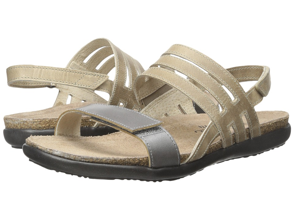Naot Footwear - Diana (Mirror Leather/Khaki Beige Leather) Women's Sandals