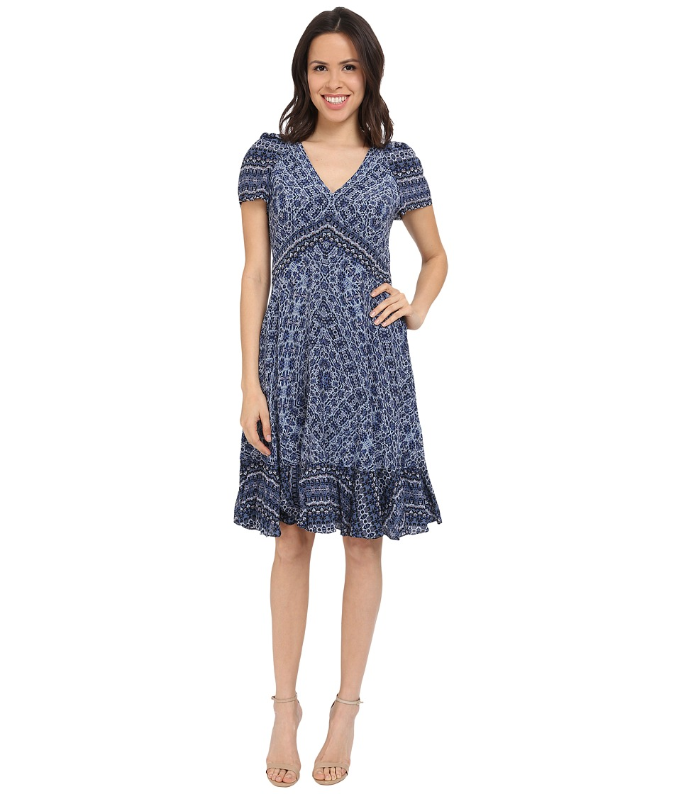 Rebecca Taylor - Marrakech Paisley Dress (Blue Smoke) Women's Dress