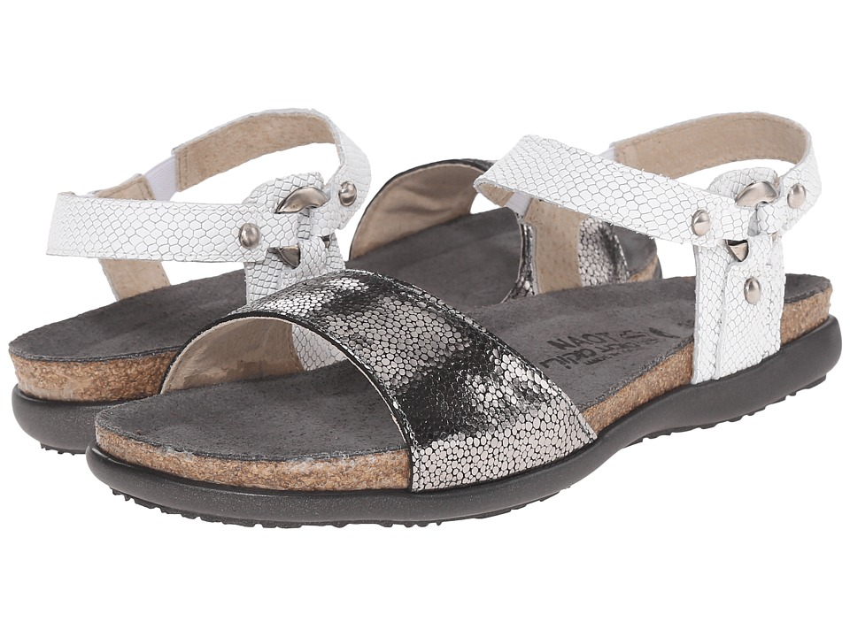 Naot Footwear Sabrina (Silver Pebble Leather/White Snake Leather) Women