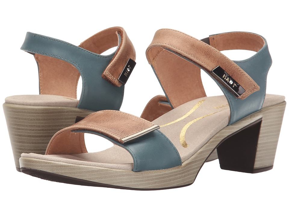 Naot Footwear Intact (Latte Brown Leather/Sea Green Leather/Pewter) Women