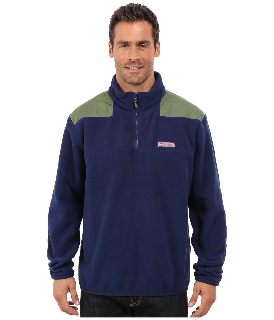 Vineyard Vines - Fleece Shep Shirt (Deep Bay) Men's Sweatshirt