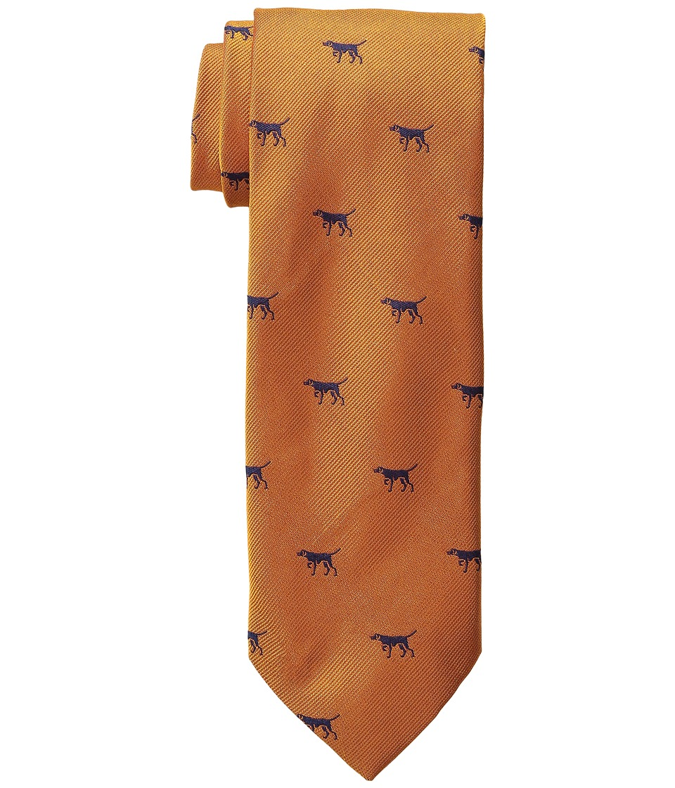Vineyard Vines - Hunting Dog Woven Tie (Orange) Ties