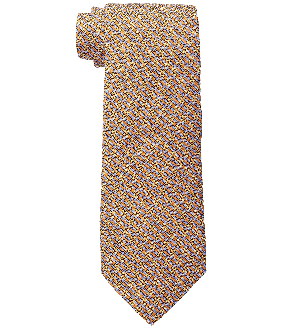 Vineyard Vines - Shotgun Shell Geo Printed Tie (Orange) Ties