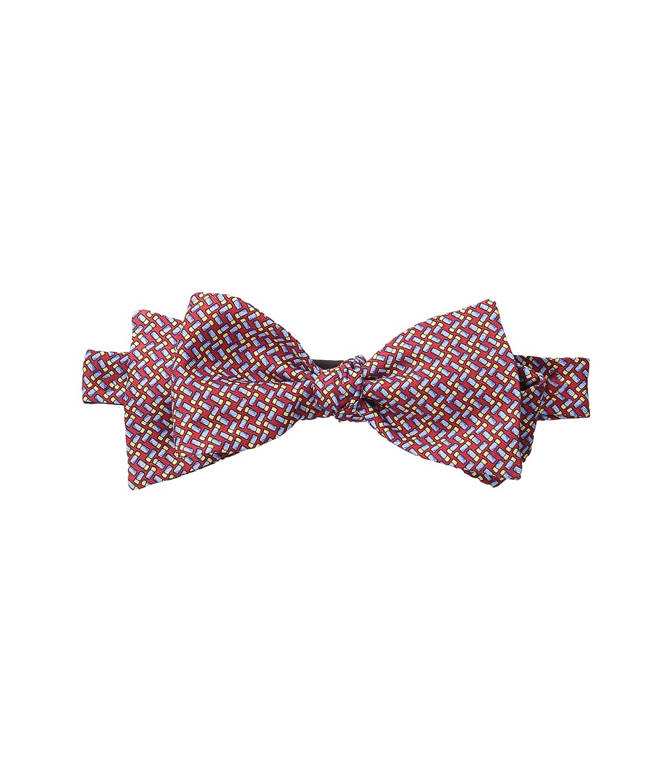 Vineyard Vines - Shotgun Shell Geo Bow Tie (Red) Ties