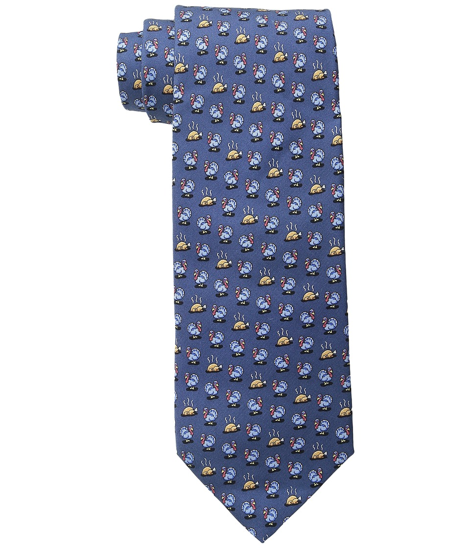 Vineyard Vines - Turkey Dinner Printed Tie (Navy) Ties