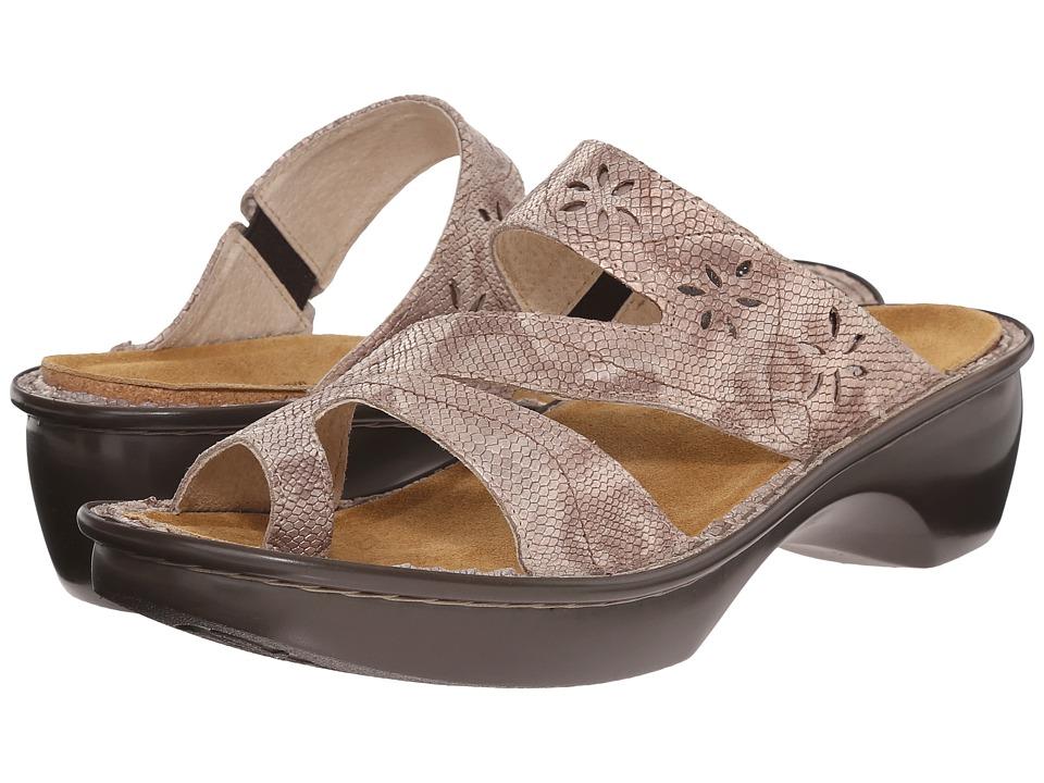 Naot Footwear - Montreal (Beige Snake Leather) Women's Slide Shoes