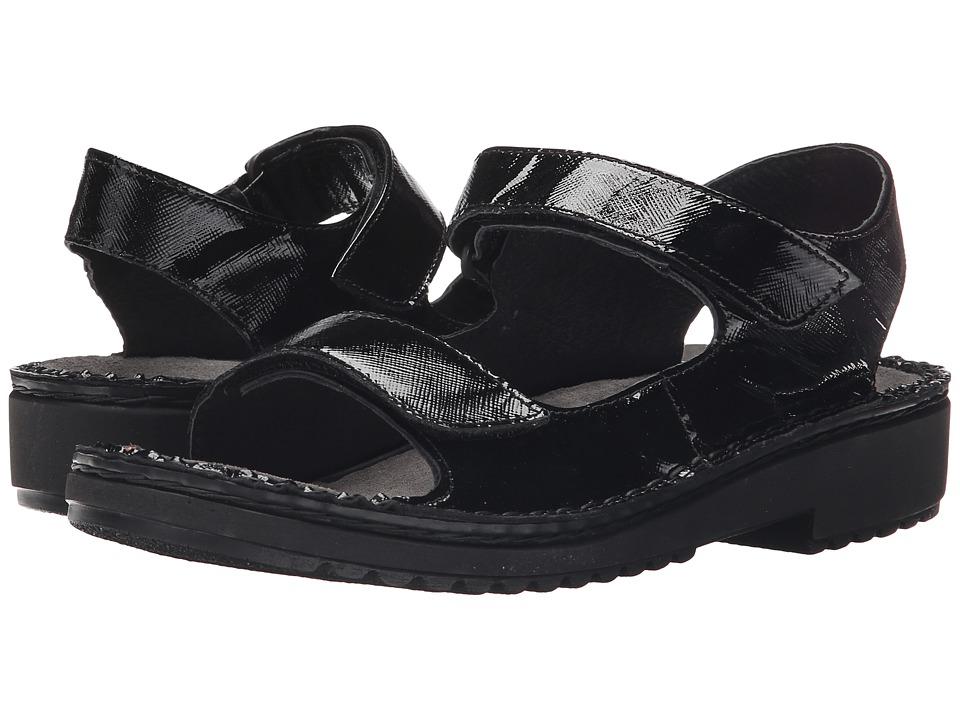 Naot Karenna (Black Luster Leather) Women