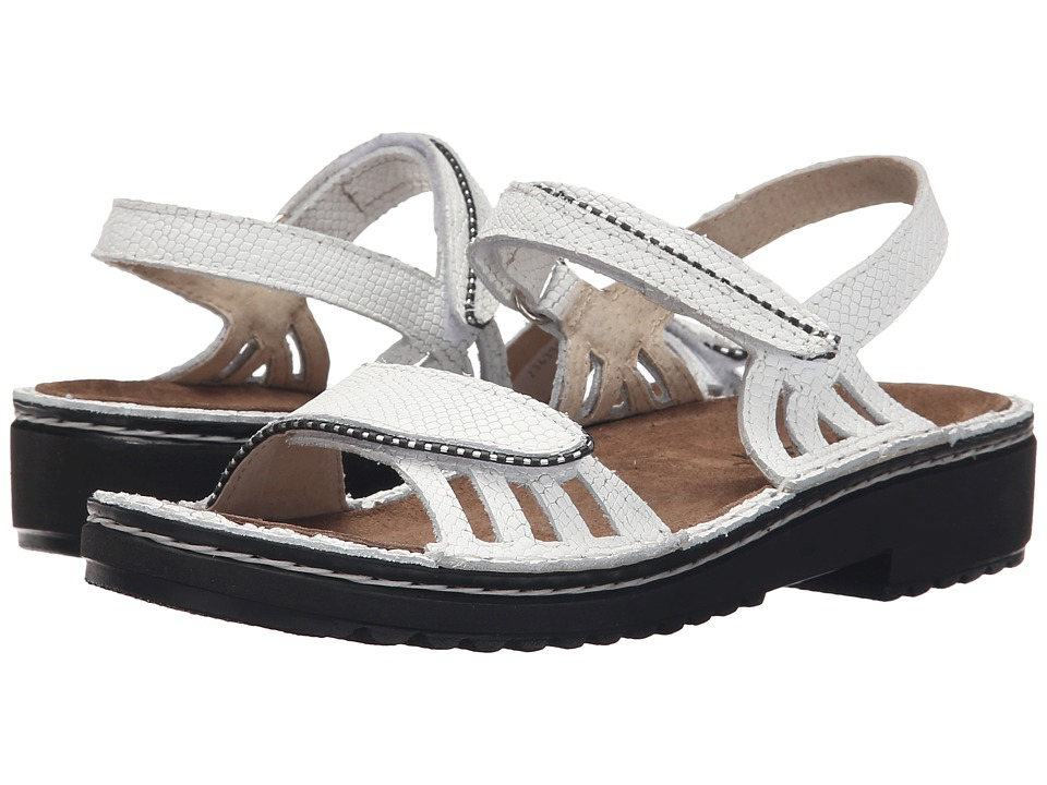 Naot Footwear Anika (White Snake Leather) Women