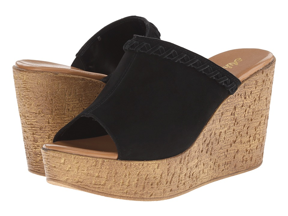 Athena Alexander - Gogo (Black Suede) Women's Slide Shoes
