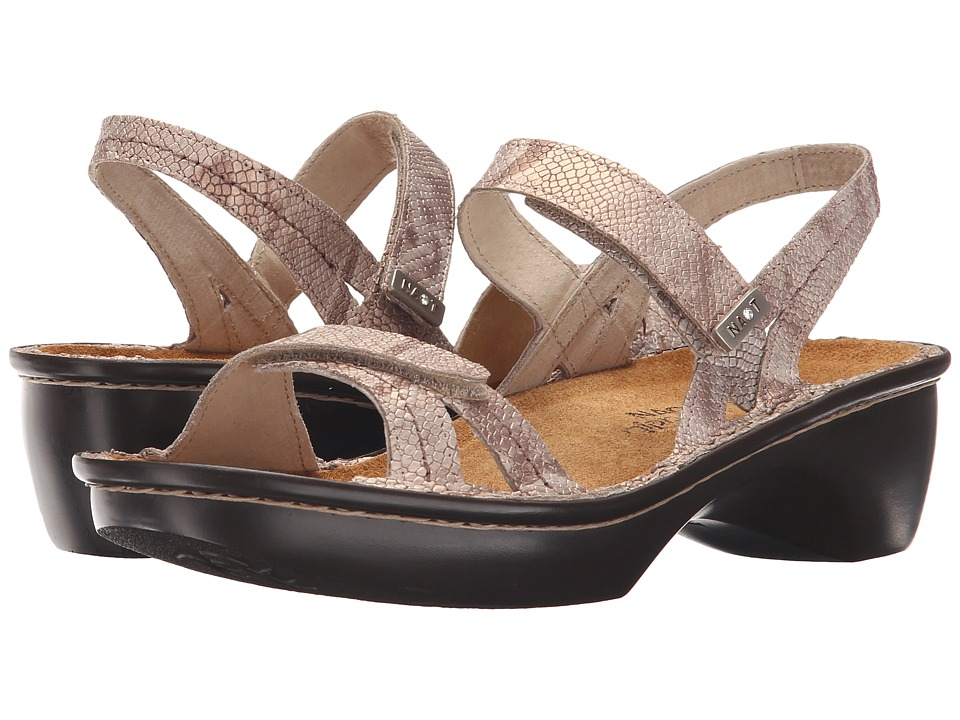 Naot Footwear - Brussels (Beige Snake Leather) Women's Sandals