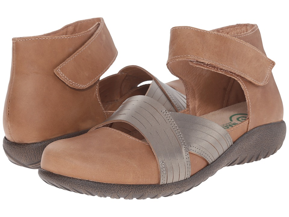 Naot Footwear - Tenei (Latte Brown Leather/Pewter Leather) Women's Sandals