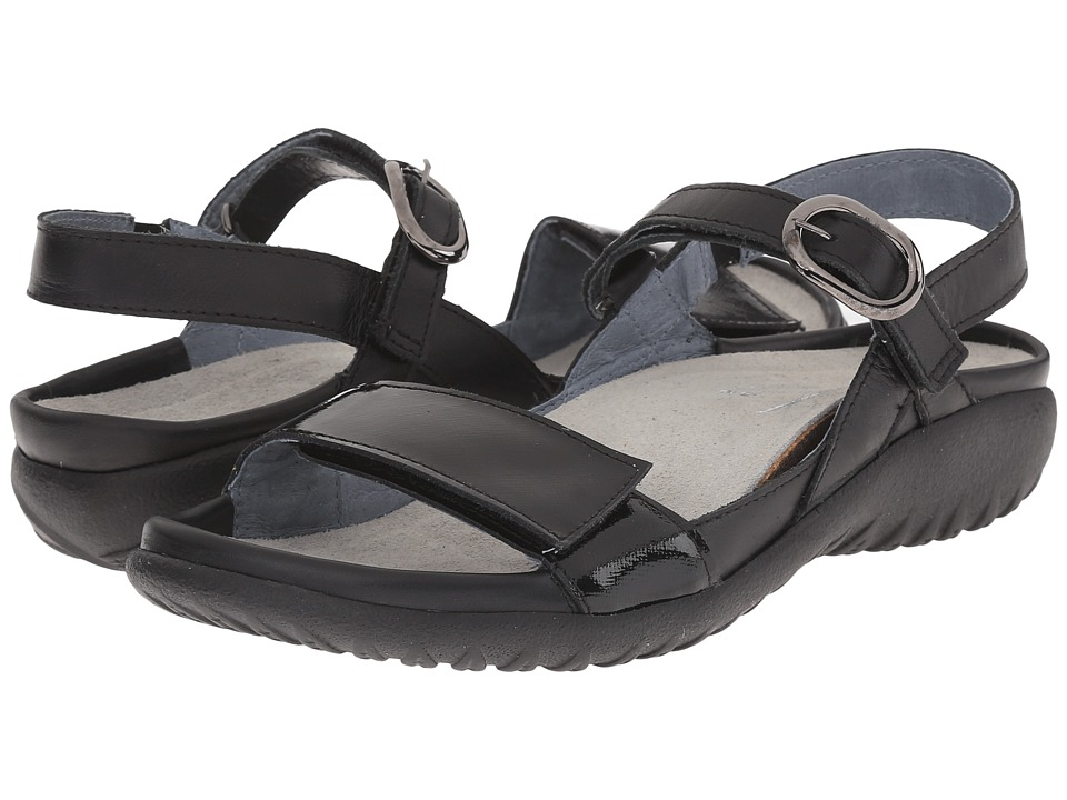Naot Footwear Mozota (Black Raven Leather/Black Luster Leather) Women